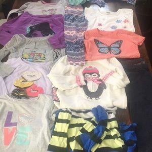 Girls size 6 clothing long sleeve Gymboree justice